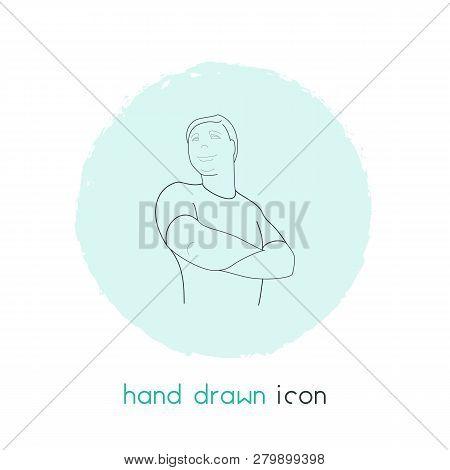 Self-confidence Icon Line Element.  Illustration Of Self-confidence Icon Line Isolated On Clean Back