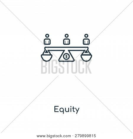 equity icon in trendy design style. equity icon isolated on white background. equity vector icon simple and modern flat symbol for web site, mobile, logo, app, UI. equity icon vector illustration, EPS10. poster