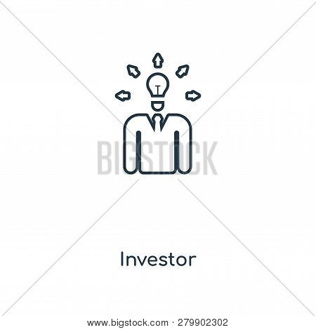Investor Icon In Trendy Design Style. Investor Icon Isolated On White Background. Investor Vector Ic