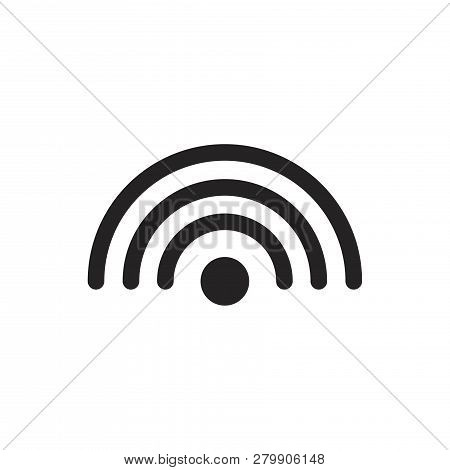 Wifi Signal Vector Icon On White Background. Wifi Signal Icon In Modern Design Style. Wifi Signal Ve