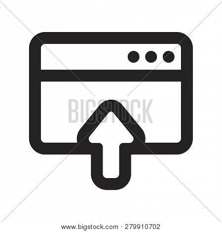 Upload Internet Vector Icon On White Background. Upload Internet Icon In Modern Design Style. Upload