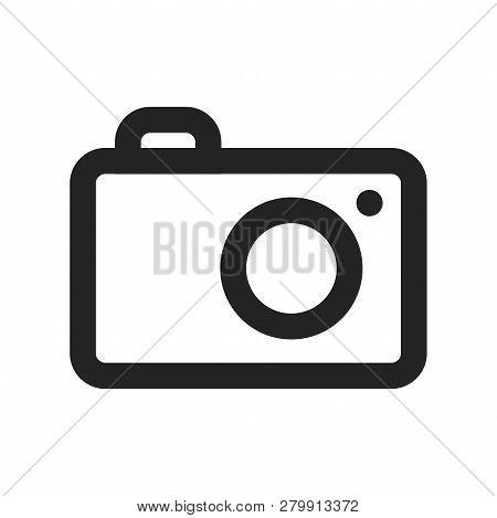 Photo Camera Vector Icon On White Background. Photo Camera Icon In Modern Design Style. Photo Camera