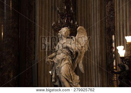 Rome, Italy - May 30, 2018: Interior Of The Church Of St. Ignatius Of Loyola At Campus Martius (chie