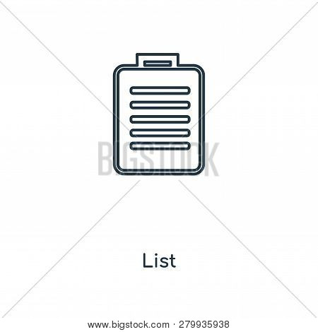 List Icon In Trendy Design Style. List Icon Isolated On White Background. List Vector Icon Simple An