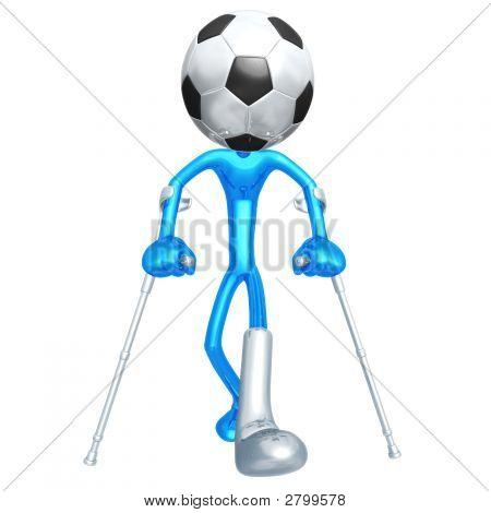 Injured Soccer Football Player