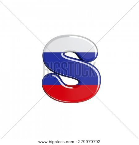 russian letter S isolated on white background. This font collection is well-suited for various projects related but not limited to Russia, politics, economics...