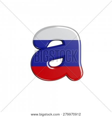Russia font A isolated on white background. This font collection is well-suited for various projects related but not limited to Russia, politics, economics...