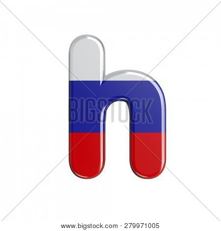russian font H isolated on white background. This font collection is well-suited for various projects related but not limited to Russia, politics, economics...