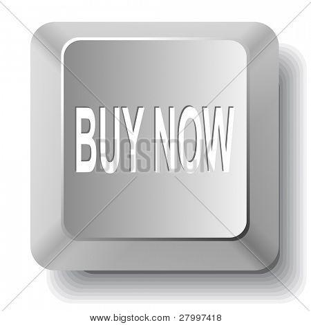Buy now. Vector computer key.