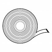 Duct tape icon. Outline illustration of duct tape icon for web design poster