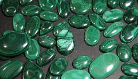 Many Malachite Stones As A Natural Background