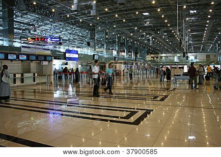 ISTANBUL- SEPTEMBER 13: Indoor of Sabiha Gokcen Airport in Istanbul ,Turkey