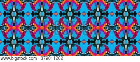 Vibrant Geometric Swimwear Pattern. Ethnic Seamless Pattern. Summer Mosaic Background. Geo Portugese