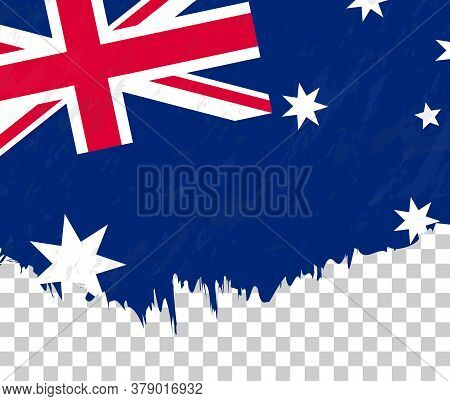 Grunge-style Flag Of Australia On A Transparent Background. Vector Textured Flag Of Australia For Ve