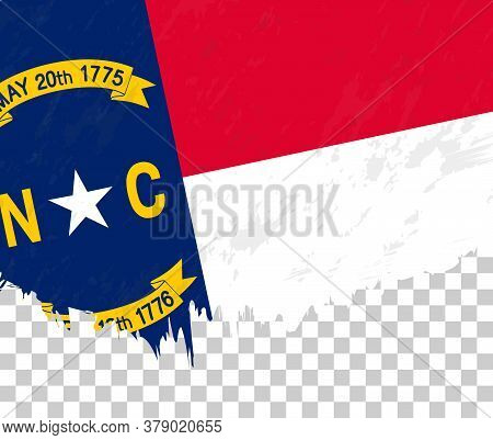 Grunge-style Flag Of North Carolina On A Transparent Background. Vector Textured Flag Of North Carol