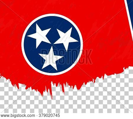 Grunge-style Flag Of Tennessee On A Transparent Background. Vector Textured Flag Of Tennessee For Ve