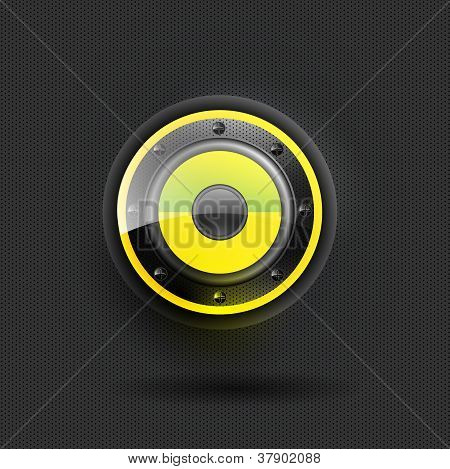 User interface speaker yellow icon