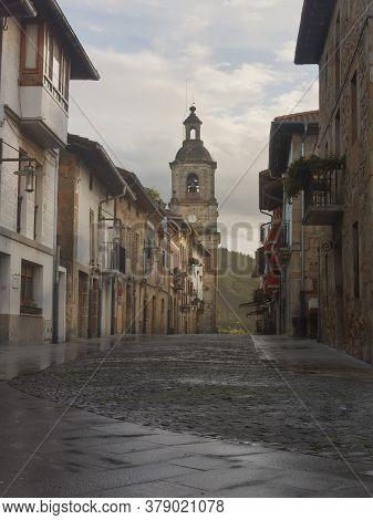 Larrabetzu, Bizkaia/basque Coutry; Nov. 03, 2012. Larrabetzu Town Historical Center.