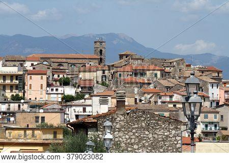 San Giovanni Incarico, Italy, 9 September 2017: The Village Of San Giovanni Incarico In Ciociaria In