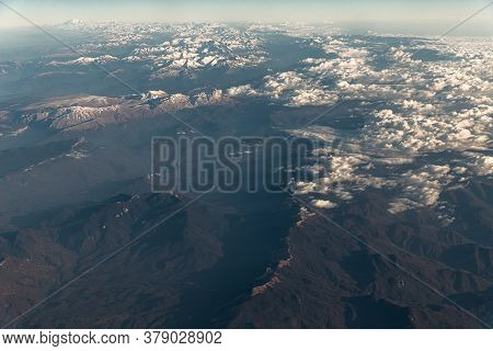 View Of The Caucasus Mountains From The Plane