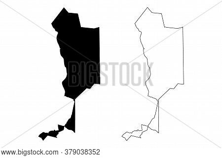 Teresina City (federative Republic Of Brazil, Piaui State) Map Vector Illustration, Scribble Sketch