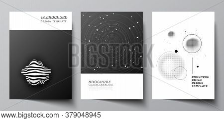 Vector Layout Of A4 Format Cover Mockups Design Templates For Brochure, Flyer Layout, Booklet, Cover