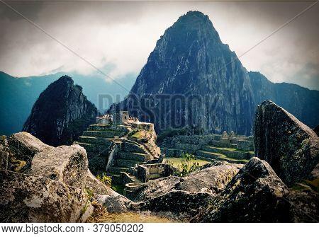 Famous View Of Macchu Picchu, In Peru