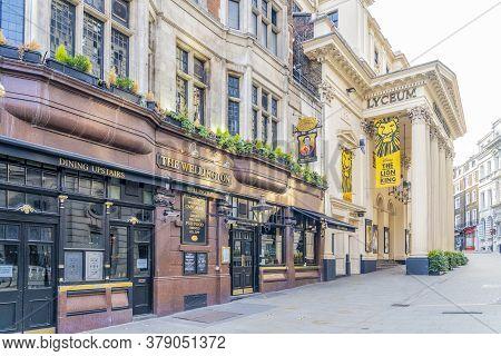 June 2020. London. Wellington Pub And Wellington Theatre In Covent Garden , London, Uk Europe