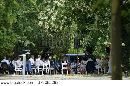 Bucharest, Romania - August 02, 2020: Ludovic Orban Speaks To The Members Of The National Political