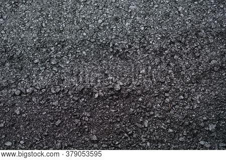 New Black Paved Road Surface Asphalt Background
