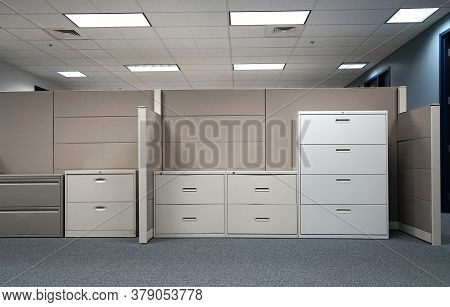 Close Up On Cabinet And Drawers In The Office