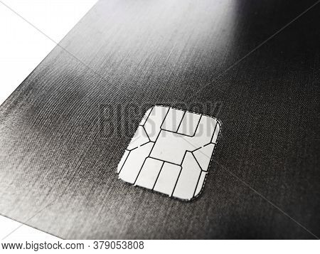 Close Up On Credit Card With Ic Chip