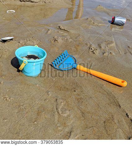 Kids Beach Shovel Toy On The Beach