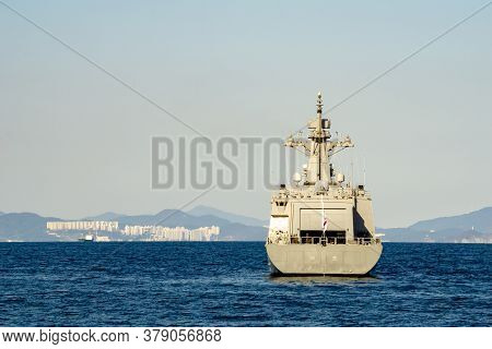 Geoje, South Korea - October 20, 2018 : Nampo-class Minelayer, Hdm-4000 Or Mls Ii-class Is A New Cla