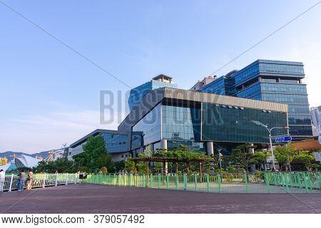 Geoje, South Korea - June 15, 2017: Headquarter Of Daewoo Shipbuilding And Marine Engineering Or Dsm