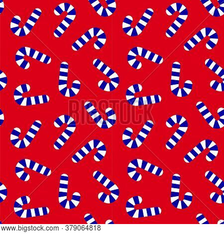 Christmas Red Navy Holiday Seamless Pattern Background