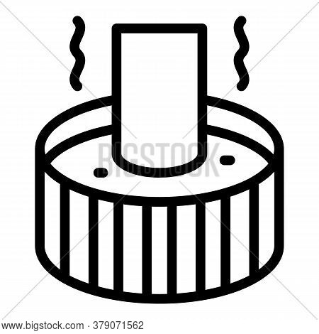 Blacksmith Water Pot Icon. Outline Blacksmith Water Pot Vector Icon For Web Design Isolated On White