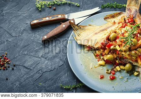 Fried Plaice With Vegetables