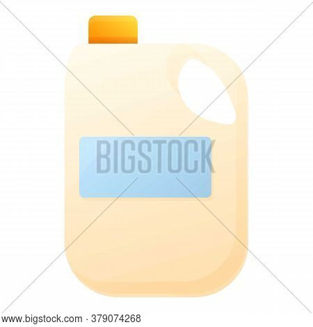 Farm Milk Canister Icon. Cartoon Of Farm Milk Canister Vector Icon For Web Design Isolated On White