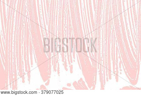 Grunge Texture. Distress Pink Rough Trace. Favorable Background. Noise Dirty Grunge Texture. Popular