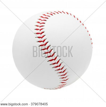 Baseball Isolated On White Background With Clipping Path