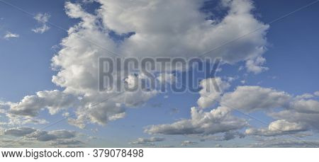 Beautiful Summer Sky Cumulus Cloud Formations For Use As Background