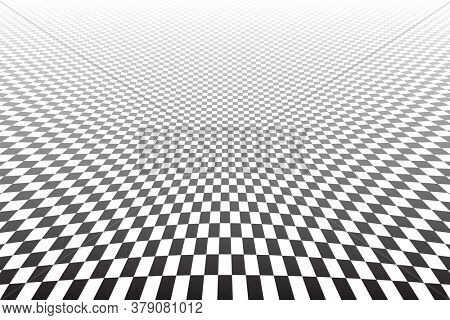 Abstract geometric pattern and texture in diminishing perspective. 3D illusion.