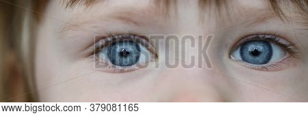 Charming Toddler Look, Funny Eyes Little Girl. Development Spatial Perception And Hand-eye Coordinat