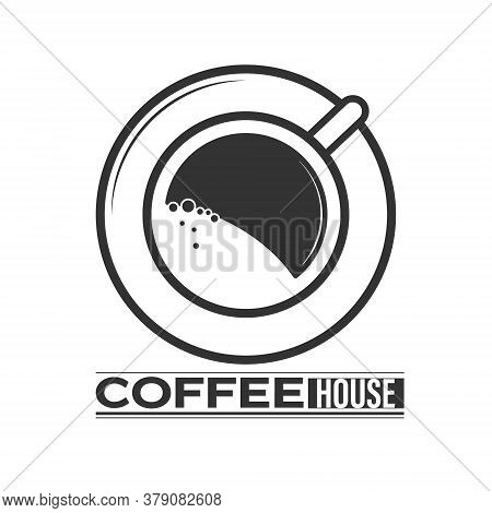 Coffee Shop. Icon With A Cup On A Saucer
