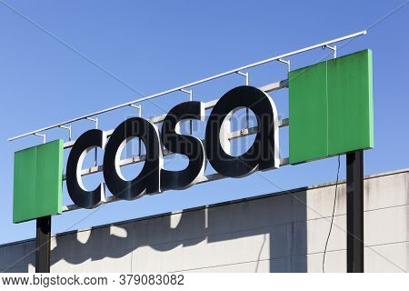 Merignac, France - June 5, 2017: Casa Logo On A Building. Casa Is A Belgian Brand Of Decoration And