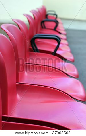 Chairs in arow