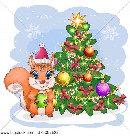 Cute Cartoon Squirrel Vector Photo Free Trial Bigstock Christmas, cartoon, pluto's christmas tree. cute cartoon squirrel vector photo