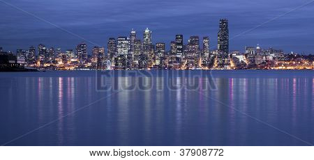 Seattle Waterfront Night
