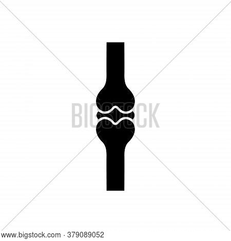 Joint Bone Icon. People Joint Bones Black Shape Vector Illustration Isolated On White Background. Hu